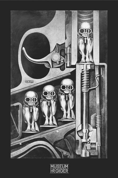 Hr Giger - birthmachine Poster