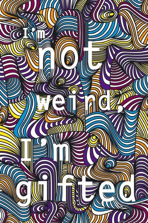 I'm not weird Poster