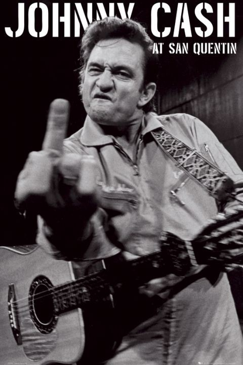 Johnny Cash - san quentin portrait Poster