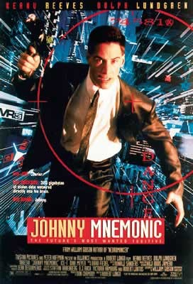 JOHNNY MNEMONIC - Keanu Reeves Poster