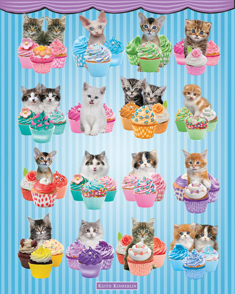 Keith Kimberlin - Kittens Cupcakes Poster