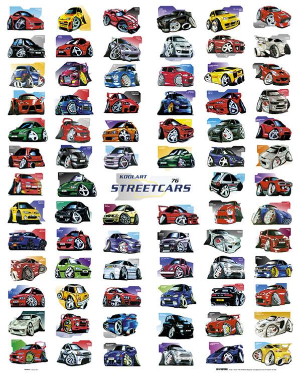Koolart - streetcars  Poster