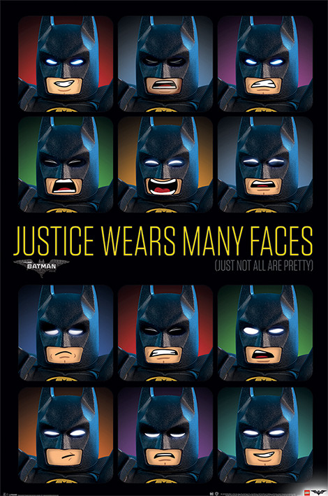 lego batman justice wears many faces poster și tablou europosters ro