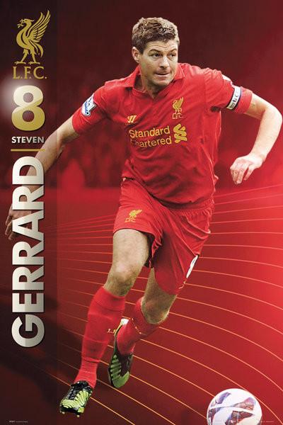 Liverpool - Gerrard 12/13 Poster