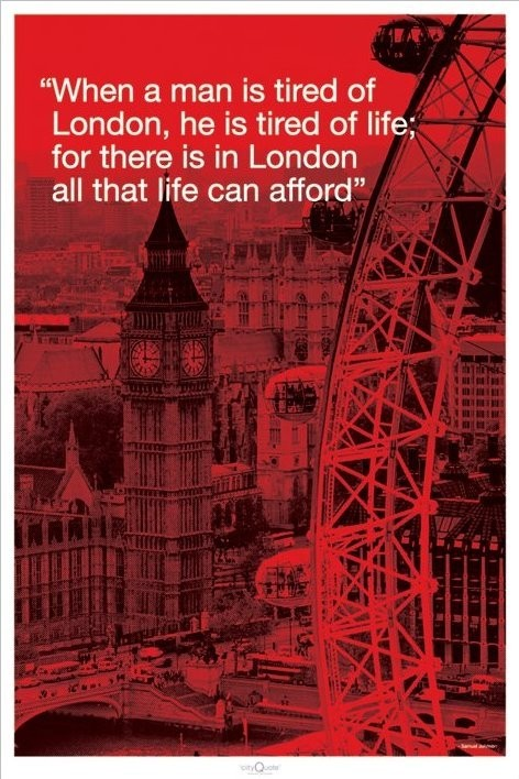 London - city quote  Poster