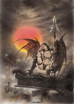 Luis Royo - black tinkerbell Poster