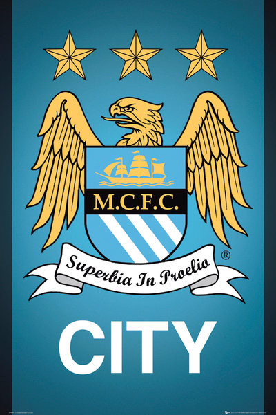 Manchester City FC - Crest 13/14 Poster