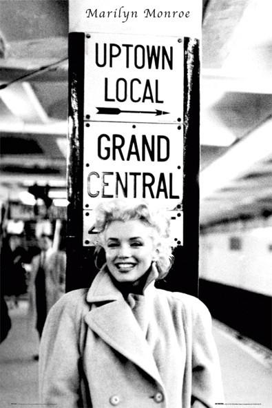 Marilyn Monroe - grand central Poster