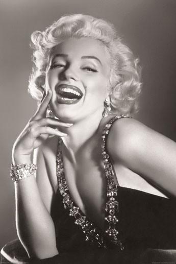 MARILYN MONROE - laughing Poster
