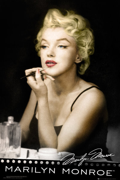 MARILYN MONROE - lipstick Poster