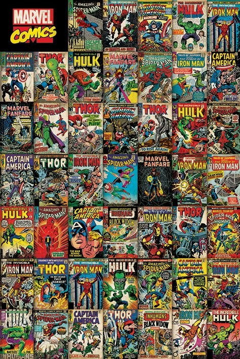 Marvel Avengers Covers Poster