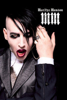 Marylin Manson - black Poster