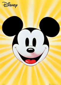MICKEY MOUSE - cara Poster