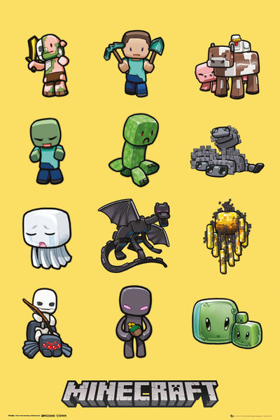 Minecraft - characters Poster