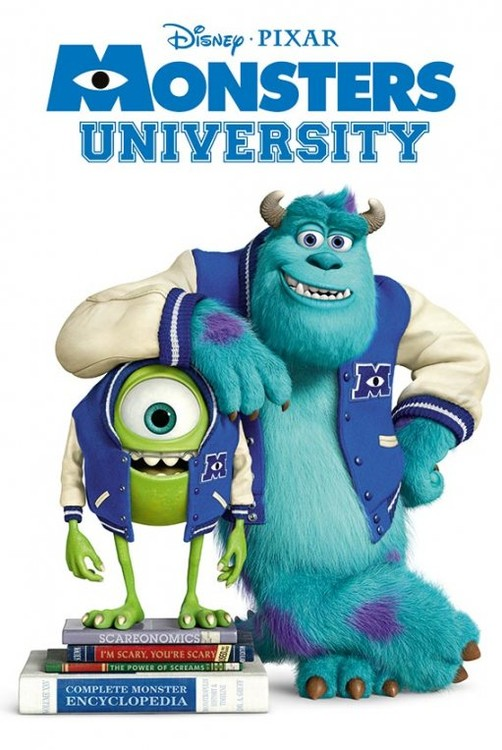 MONSTERS UNIVERSITY - books   Poster