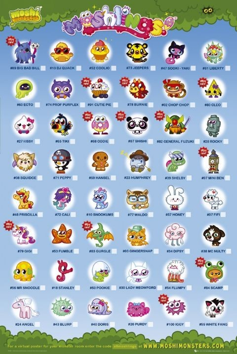 Moshi monsters - moshlings Poster