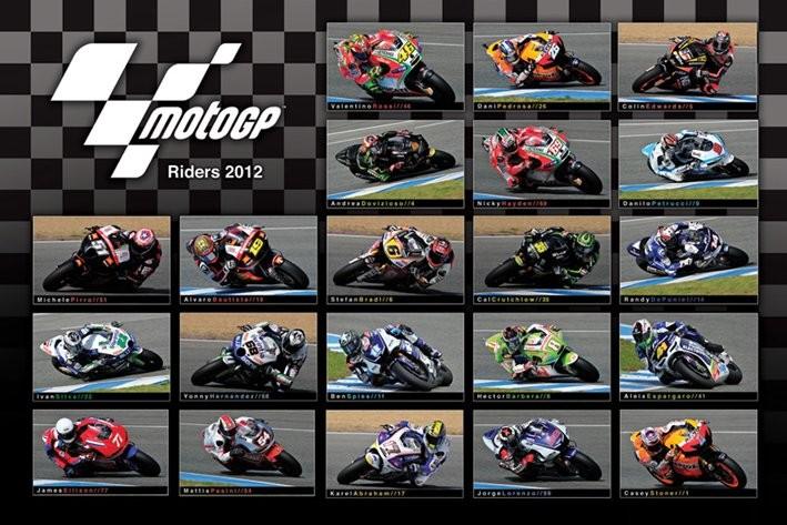 MOTO GP - 2012 riders Poster