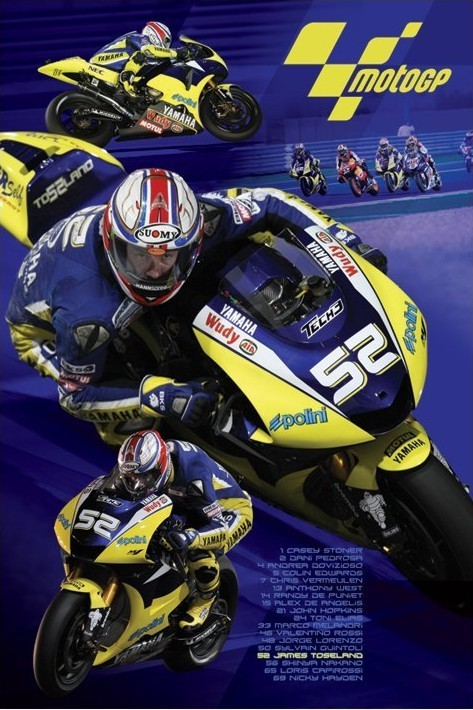 Moto GP - toseland Poster