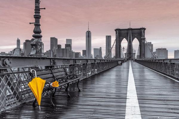 New York - Brooklyn bridge, Assaf Frank Poster