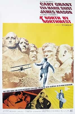 NORTH BY NORTHWEST - cast Poster