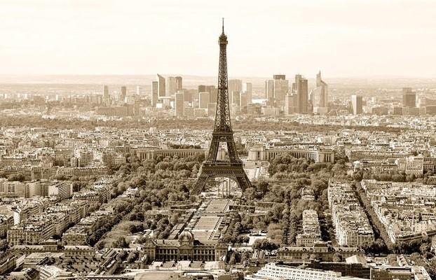 Paris – sepia Poster