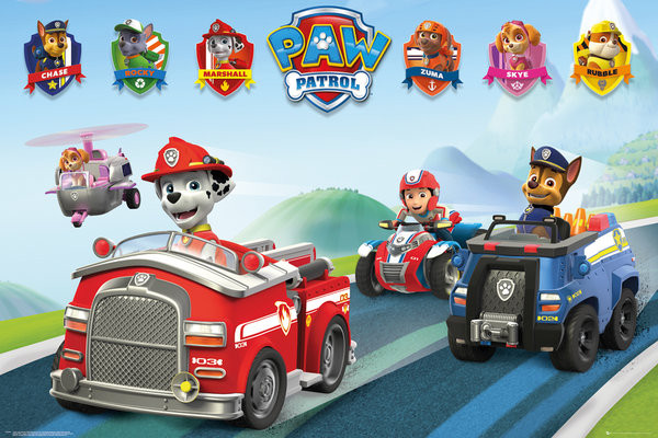 Poster Paw Patrol - Vehicles