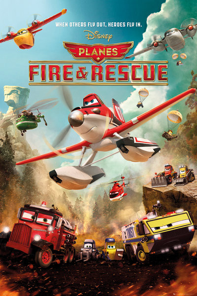 Planes 2: Fire and Rescue - Disney Action Poster