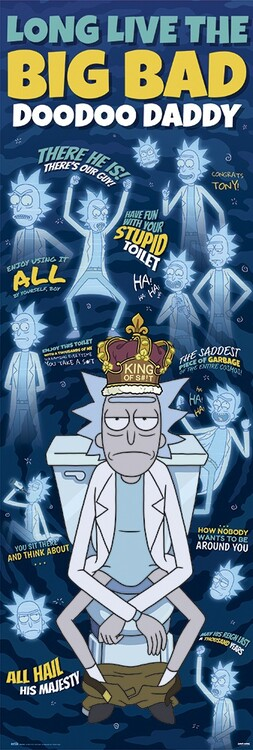 Rick & Morty - Doodoo Daddy Poster