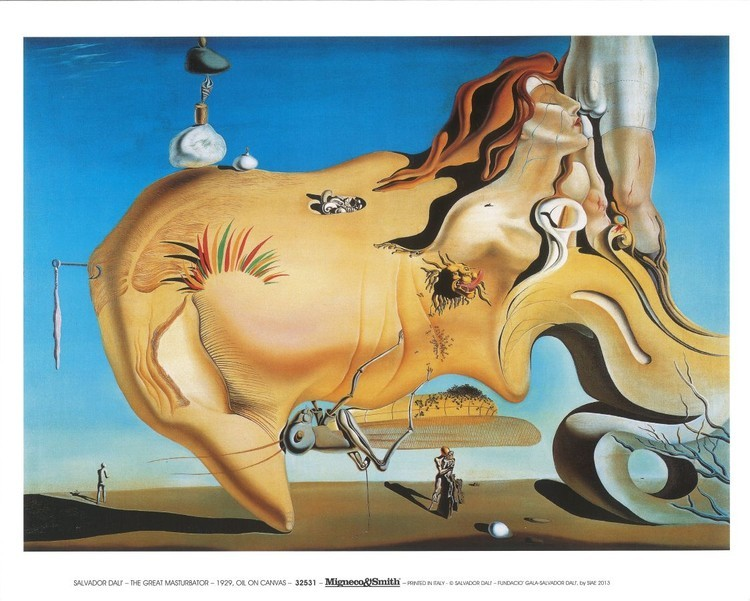 Salvador Dali - Le Grand Masturbateur Reproducere