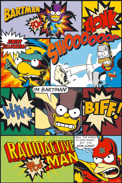 SIMPSONS - comic Poster