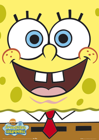SPONGEBOB - big face Poster