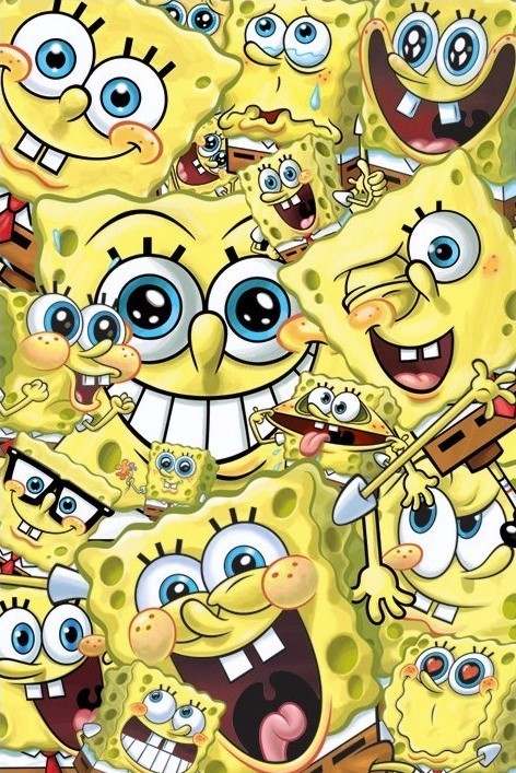SPONGEBOB - faces Poster