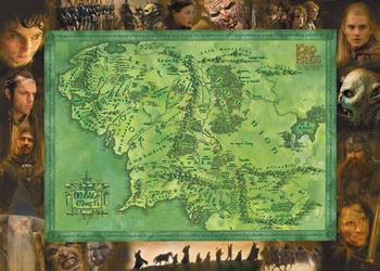 Stapânul Inelelor - Harta a Pamântul de Mijloc Poster