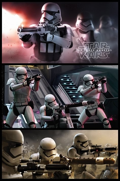 Star Wars Episode VII: The Force Awakens - Stormtrooper Panels Poster