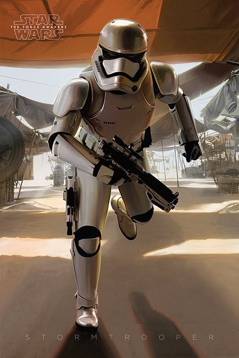 Star Wars Episode VII: The Force Awakens - Stormtrooper Running Poster