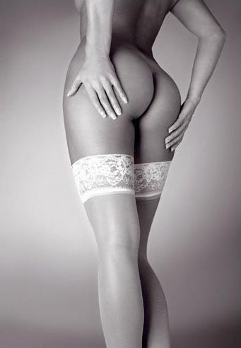 Stockings - b/w Poster