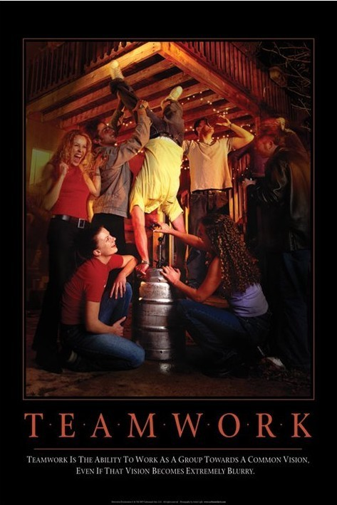 Teamworks - party Poster