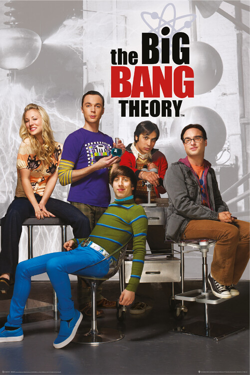 Poster Teoria Big Bang - Personaje