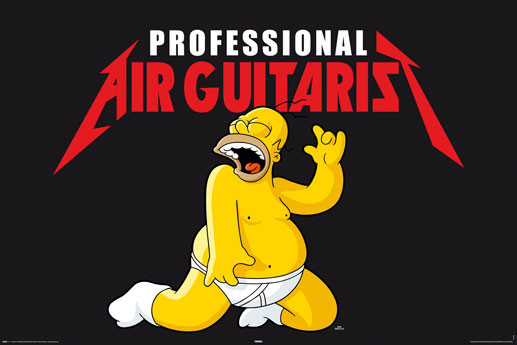 THE SIMPSONS - air guitarist Poster