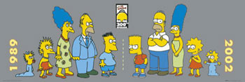 THE SIMPSONS - then & now Poster