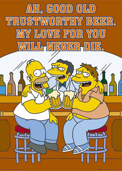 THE SIMPSONS - trustworthy Poster
