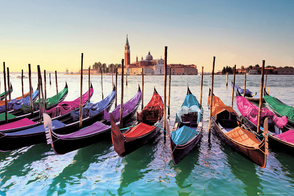 Venice - gondolas Poster