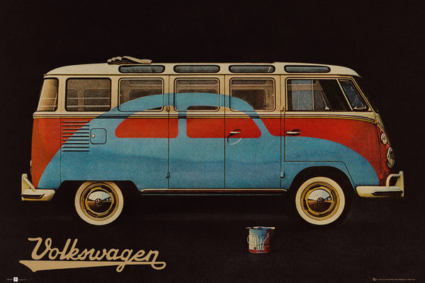 VW Volkswagen Camper - Paint Advert Poster