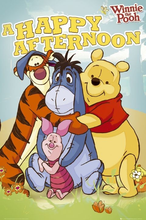 WINNIE THE POOH - happy afternoon Poster