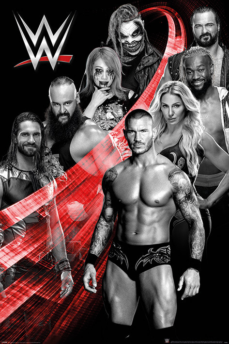 WWE - Superstars Swoosh Poster