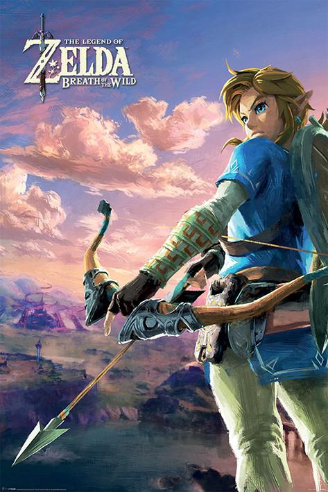 Poster Zelda Breath of the Wild - Hyrule Scene Landscape