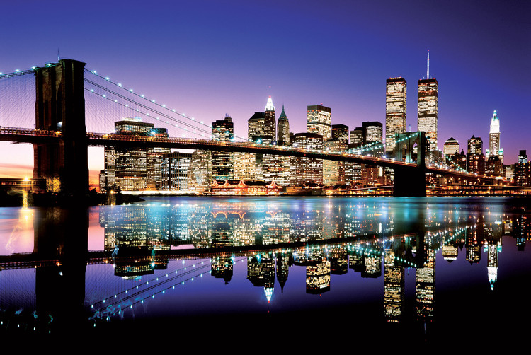 Poster Brooklyn bridge - colour