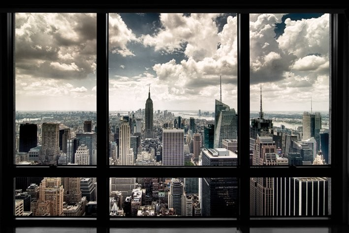 Poster New York - window