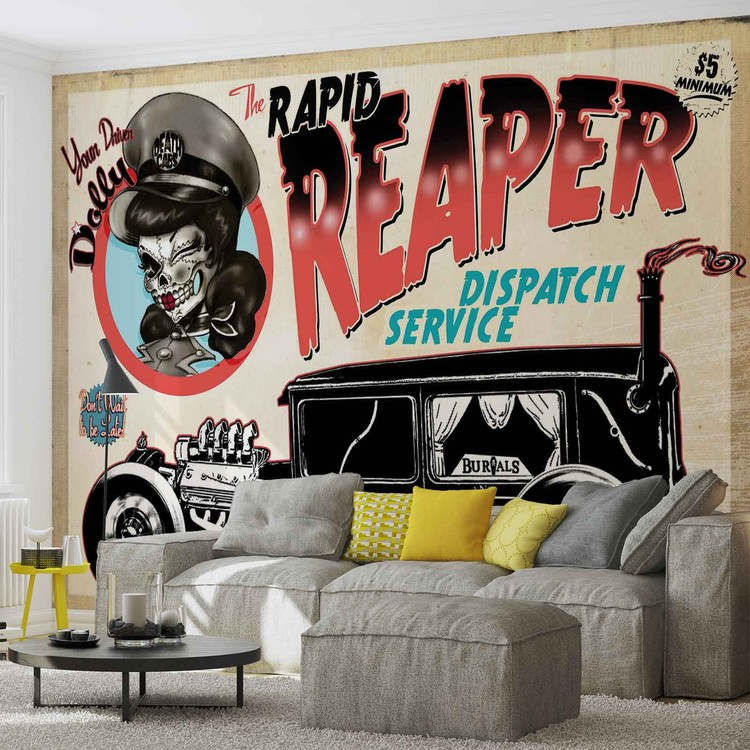 alchimie mort taxi cutie voiture cr ne poster mural papier peint acheter le sur. Black Bedroom Furniture Sets. Home Design Ideas