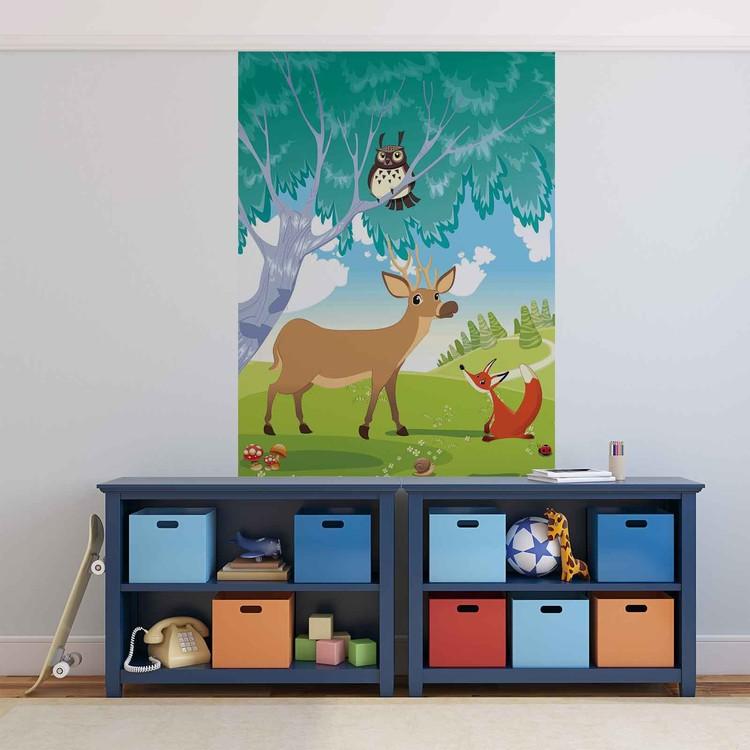 Animaux dans la Forêt Poster Mural XXL